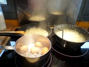 huevos sofrito y patatas